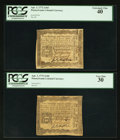 Colonial Notes:Pennsylvania, Pennsylvania April 3, 1772 2s 6d PCGS Extremely Fine 40 & PCGSVery Fine 30.. ... (Total: 2 notes)
