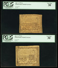 Colonial Notes:Pennsylvania, Pennsylvania April 3, 1772 2s PCGS Very Fine 30 Duo.. ... (Total: 2notes)