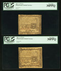 Colonial Notes:Pennsylvania, Pennsylvania April 3, 1772 2s PCGS Very Fine 30PPQ Duo.. ...(Total: 2 notes)