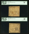Colonial Notes:Pennsylvania, Pennsylvania April 3, 1772 2s PCGS Very Fine 30 & PCGS ApparentVery Fine 30.. ... (Total: 2 notes)