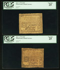 Colonial Notes:Pennsylvania, Pennsylvania April 3, 1772 2s 6d PCGS Very Fine 25. Two Examples..... (Total: 2 notes)