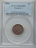 Proof Indian Cents: , 1886 1C Type One PR63 Brown PCGS. PCGS Population (18/132). NGCCensus: (23/254). Mintage: 4,290. Numismedia Wsl. Price for...