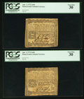 Colonial Notes:Pennsylvania, Pennsylvania April 3, 1772 2s 6d PCGS Very Fine 30. Two Examples. .... (Total: 2 notes)