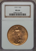 Saint-Gaudens Double Eagles, 1925 $20 MS66 NGC....