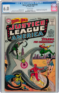 The Brave and the Bold #28 Justice League of America (DC, 1960) CGC FN 6.0 Off-white pages