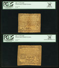 Colonial Notes:Pennsylvania, Pennsylvania April 3, 1772 2s 6d PCGS Apparent Very Fine 30. TwoExamples.. ... (Total: 2 items)
