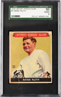 Baseball Cards:Singles (1930-1939), 1933 Sport Kings Babe Ruth #2 SGC 50 VG/EX 4....