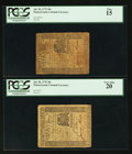 Colonial Notes:Pennsylvania, Pennsylvania July 20, 1775 30s PCGS Very Fine 20 and PCGS Fine 15..... (Total: 2 notes)
