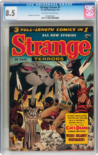 Strange Terrors #7 (St. John, 1953) CGC VF+ 8.5 Off-white to white pages
