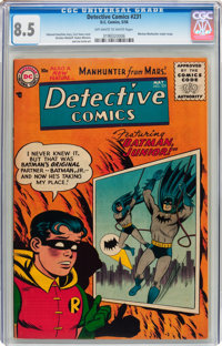 Detective Comics #231 (DC, 1956) CGC VF+ 8.5 Off-white to white pages
