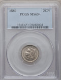 Three Cent Nickels, 1880 3CN MS65+ PCGS....