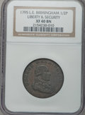 Colonials: , 1795 1/2P Washington Liberty & Security Halfpenny, BIRMINGHAMEdge XF40 NGC. NGC Census: (1/8). PCGS Population (1/27). (...