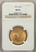 Indian Eagles: , 1912 $10 MS62 NGC. NGC Census: (2418/1349). PCGS Population(1987/1158). Mintage: 405,083. Numismedia Wsl. Price for proble...