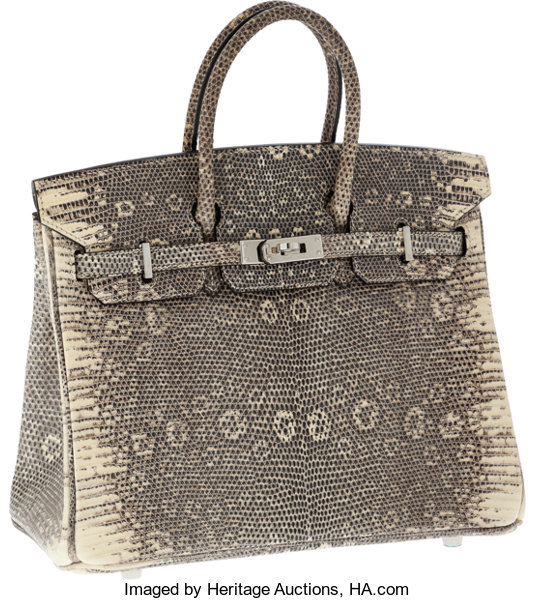 73c78ccb2cdb Hermes Extremely Rare 25cm Ombre Lizard Birkin Bag with
