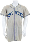 Baseball Collectibles:Uniforms, 1940's Ft. Worth Cats Game Worn Jersey....