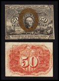 Fractional Currency:Second Issue, Fr. 1314SP 50¢ Second Issue Narrow Margin Pair New.. ... (Total: 2 notes)