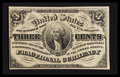 """Fractional Currency:Third Issue, Fr. 1226 3¢ Third Issue Extremely Fine """"Missing Pearl Variety"""".. ..."""