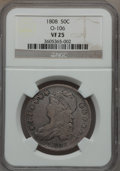 Bust Half Dollars: , 1808 50C VF25 NGC. O-106. NGC Census: (15/386). PCGS Population(31/487). Mintage: 1,368,600. Numismedia Wsl. Price for pro...