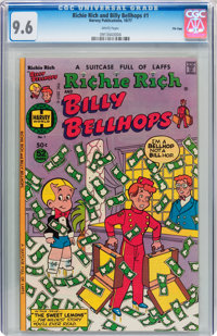 Richie Rich and Billy Bellhops #1 File Copy (Harvey, 1977) CGC NM+ 9.6 White pages