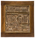 Post-War & Contemporary:Sculpture, ARNALDO POMODORO (Italian, b. 1926). Untitled, 1962. Bronze in wood frame. Bronze: 15-1/4 x 13-3/4 inches (38.7 x 34.9 c...