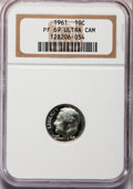 Proof Roosevelt Dimes: , 1961 10C PR69 Ultra Cameo NGC. NGC Census: (27/0). PCGS Population(58/4). Numismedia Wsl. Price for problem free NGC/PCGS...