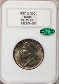 Commemorative Silver: , 1937-S 50C Boone MS65 Prooflike NGC. CAC. Mintage: 2,506.(#89272)...