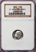 Proof Roosevelt Dimes: , 1962 10C PR69 Ultra Cameo NGC. NGC Census: (60/0). PCGS Population(52/0). Numismedia Wsl. Price for problem free NGC/PCGS...