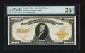 Large Size:Gold Certificates, Fr. 1220 $1000 1922 Gold Certificate PMG Choice Very Fine 35 Net.. ...