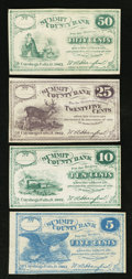 Obsoletes By State:Ohio, Cuyahoga Falls, OH - Summit County Bank 5¢, 10¢, 25¢, and 50¢ 1862Remainders. ... (Total: 4 notes)
