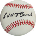Autographs:Baseballs, 1980's Edd Roush Single Signed Baseball. ...