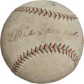 Autographs:Baseballs, 1929 Chicago Cubs Partial Team Signed Baseball with Hack Wilson, Speaker....