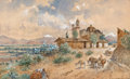 Works on Paper, AUGUST LOHR (German, 1843-1919). Mexico, 1903. Watercolor on paper. 17 x 28 inches (43.2 x 71.1 cm). Signed, inscribed, ...