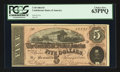 Confederate Notes:1864 Issues, T69 $5 1864 PF-8 Cr. 462.. ...