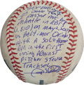 Baseball Collectibles:Balls, 2007 Gary Sheffield Game Used Baseball from Day He Surpassed MickeyMantle Career RBI Total....