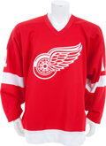 Hockey Collectibles:Uniforms, 1987-88 Shawn Burr Game Worn Detroit Red Wings Jersey....