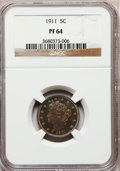 Proof Liberty Nickels: , 1911 5C PR64 NGC. NGC Census: (173/248). PCGS Population (206/165).Mintage: 1,733. Numismedia Wsl. Price for problem free ...