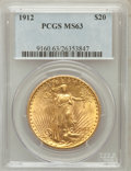 Saint-Gaudens Double Eagles, 1912 $20 MS63 PCGS....