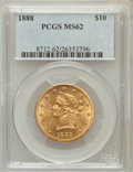 Liberty Eagles, 1888 $10 MS62 PCGS....