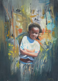 Latin American:Contemporary, FRANK IRAOLA (Cuban, b. 1952). Shy, 2004. Oil on canvas.35-1/2 x 25-1/2 inches (90.2 x 64.8 cm). Signed and dated botto...
