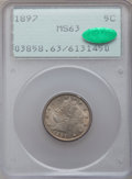 Liberty Nickels: , 1897 5C MS63 PCGS. CAC. PCGS Population (139/286). NGC Census:(92/214). Mintage: 20,428,736. Numismedia Wsl. Price for pro...