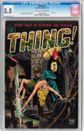 Golden Age (1938-1955):Horror, The Thing! #9 (Charlton, 1953) CGC FN- 5.5 Off-white to whitepages....