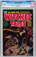 Golden Age (1938-1955):Horror, Witches Tales #25 (Harvey, 1954) CGC VG/FN 5.0 Off-white to whitepages....
