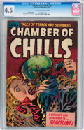 Golden Age (1938-1955):Horror, Chamber of Chills #23 (Harvey, 1954) CGC VG+ 4.5 Off-white to whitepages....