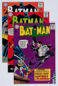 Silver Age (1956-1969):Superhero, Batman Group (DC, 1965) Condition: Average FN/VF.... (Total: 3 Comic Books)