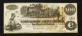 Confederate Notes:1862 Issues, T39 $100 1862 PF-12 Cr. UNL.. ...