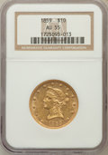 Liberty Eagles, 1859 $10 AU55 NGC....