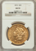 Liberty Double Eagles: , 1872 $20 AU53 NGC. NGC Census: (67/454). PCGS Population (60/238).Mintage: 251,880. Numismedia Wsl. Price for problem free...