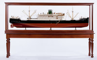 VINTAGE SHIP BUILDER'S MODEL OF THE 'SANTA INEZ' The freighter 'Santa Inez' was built by Barmeister & Waine in Cop...