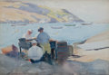 Maritime:Paintings, SEARS GALLAGHER (American, 1869-1955). The Fish Beach,Monhegan. Watercolor. 15 x 21 inches (38.1 x 53.3 cm). Signedlow...