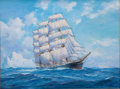 Maritime:Paintings, ANTON OTTO FISCHER (1882-1962). Running Away from Danger.Oil on canvas. 24 x 32 inches (61.0 x 81.3 cm). Signed lower r...
